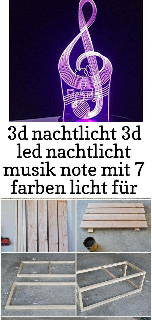 3d Nachtlicht 3d Led Nachtlicht Musik Note Mit 7 Farben Licht Fur Hauptdekoration Lampe Erstaunlic 7 Decor