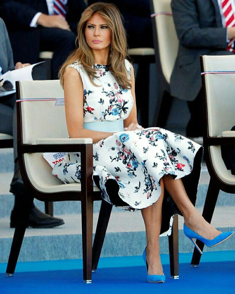 Trumpadmin Daily Updates Melania Trump Com Vestido Estampado Trump Fashion Elegant Floral Dress Milania Trump Style