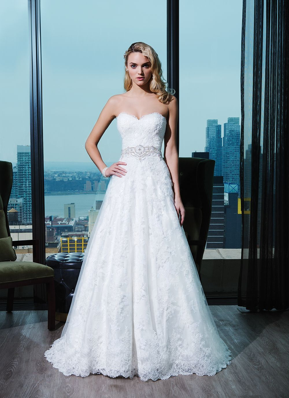 Justin Alexander signature wedding dress Style 9764 Corded lace ball ...