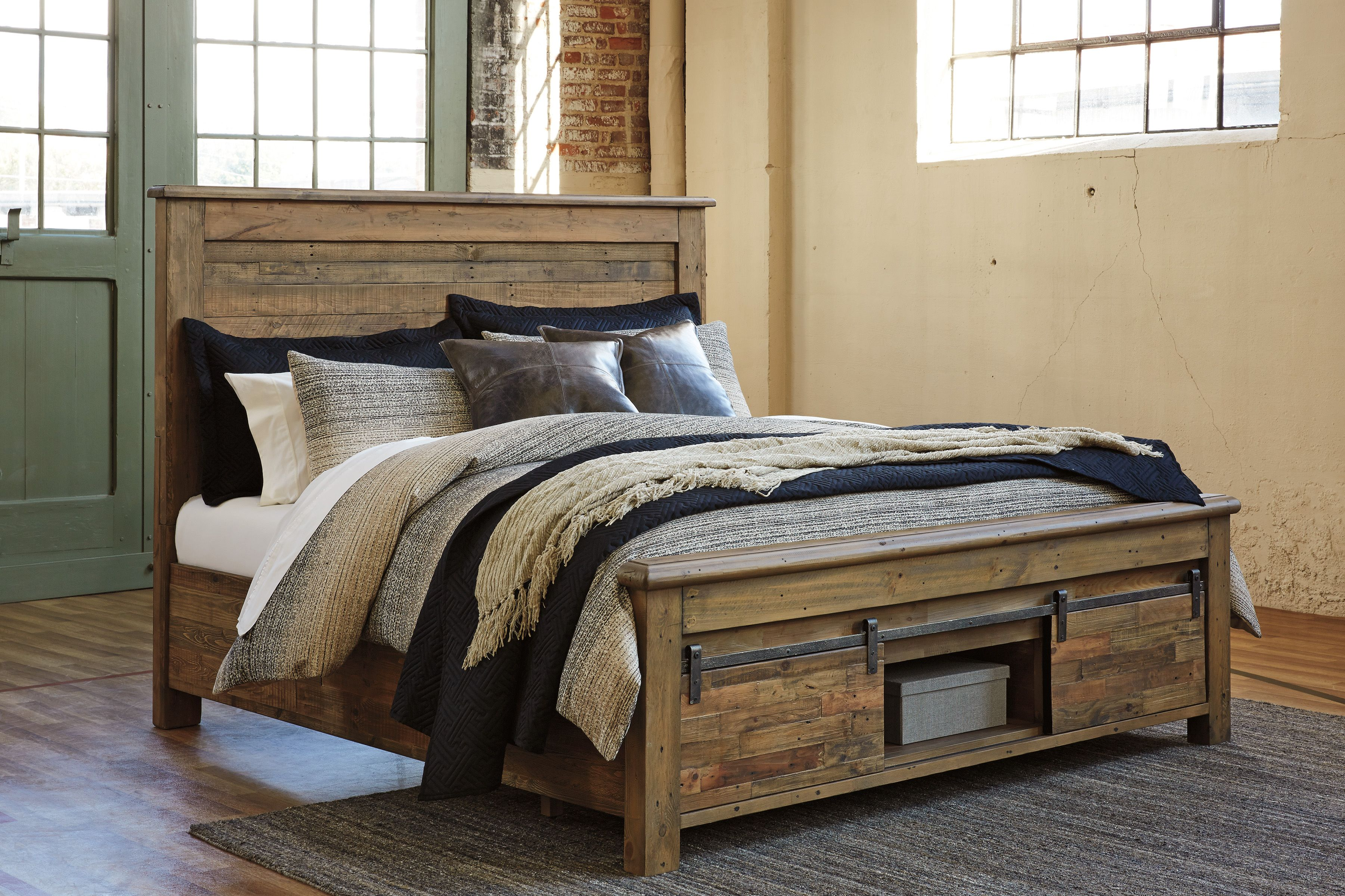 Signature Design By Ashley Sommerford Brown King Panel Bed