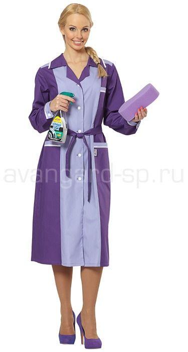 """Халат женский """"Лаванда"""" / Костюмы и халаты / Одежда для индустрии гостеприимства"""