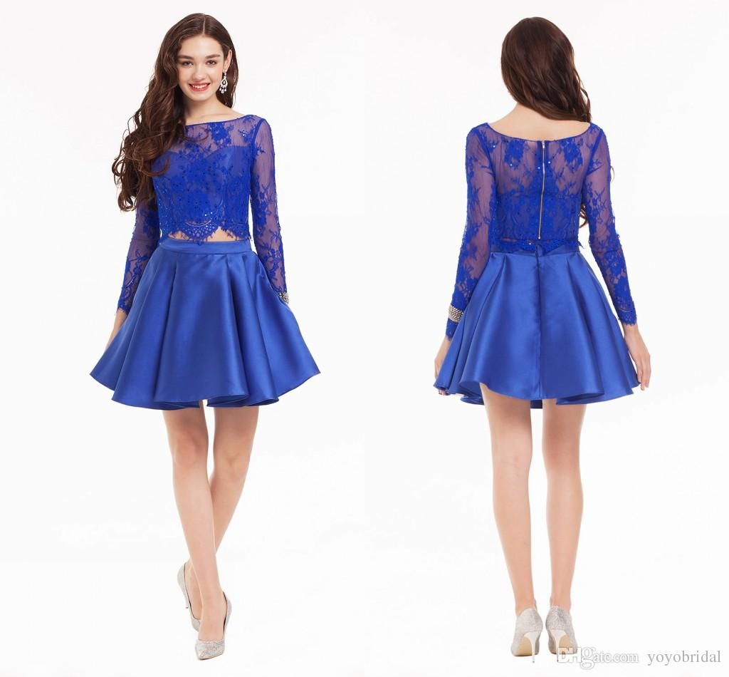 Knee Length Homecoming Dresses Royal Blue Short Prom Dress Cocktail ...