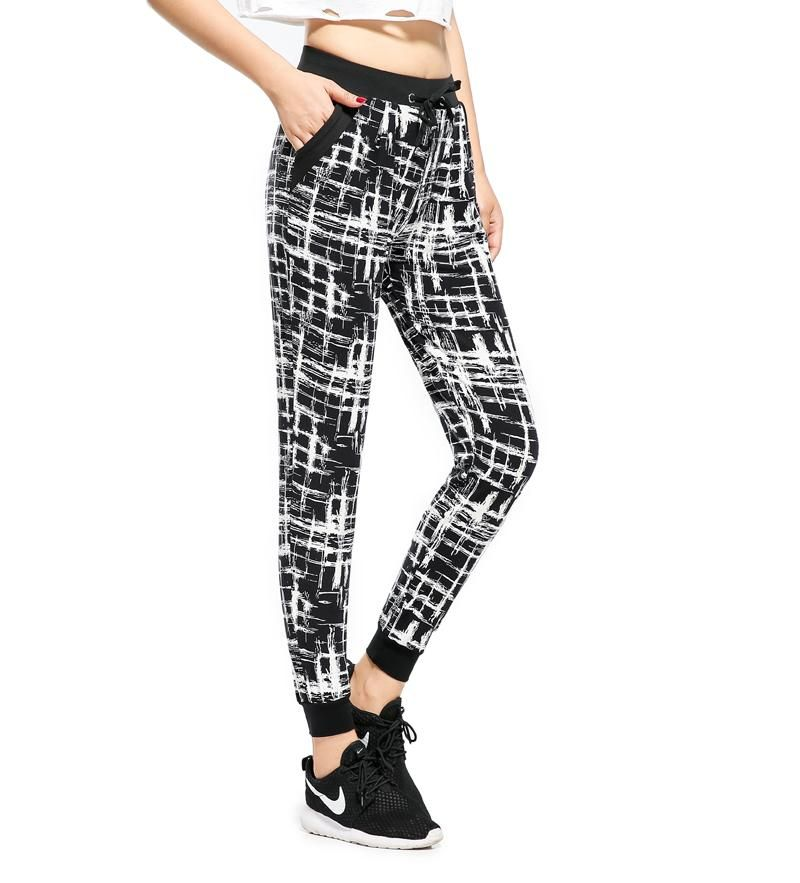 meet picked up fashion style of 2019 Black & White Ladies Joggers in 2019 | شلوار | Jogger pants ...