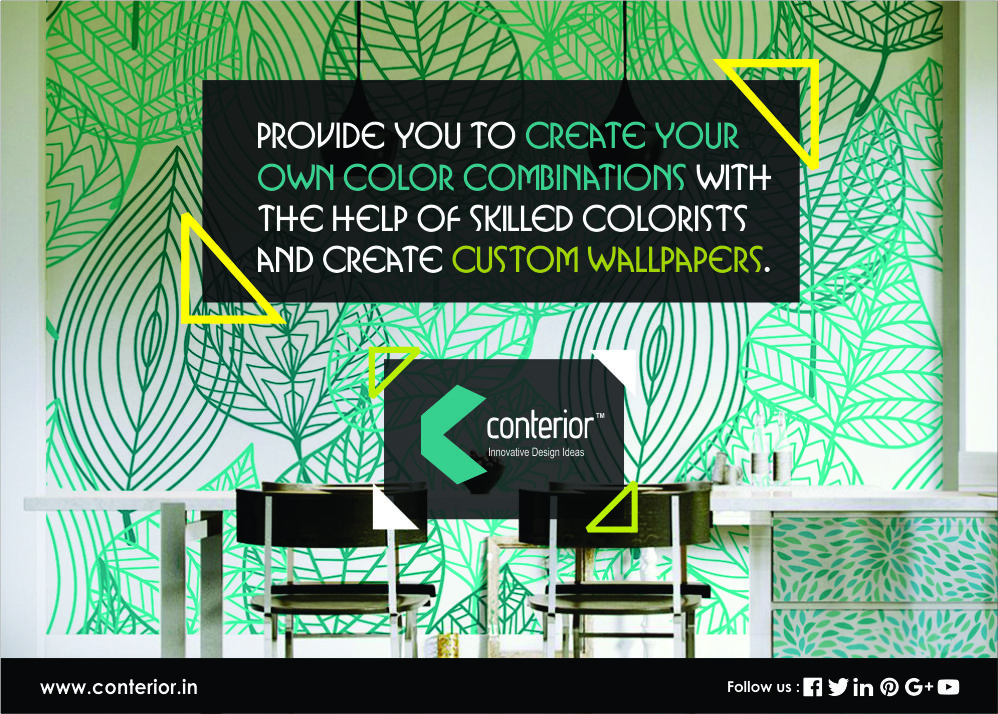 Conterior Allows You To Create Your Own Color Combination With The Help Of Colorists And Wallpaper Design In Delhi NCR