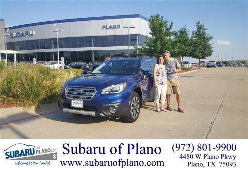 Congratulations Maria On Your Subaru Outback From Vickie Belt At Subaru Of Plano Subaru Plano Maria