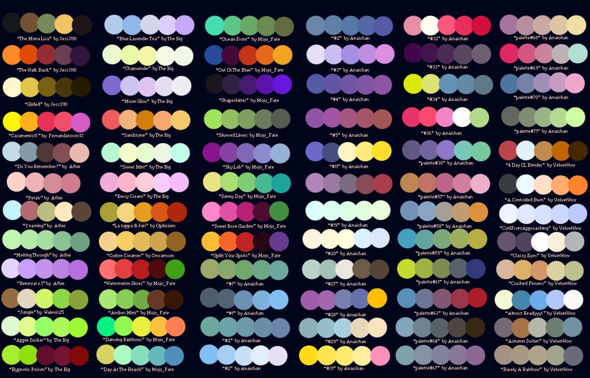 Colour Palettes no.2 by Striped-Tie.deviantart.com on @deviantART ...