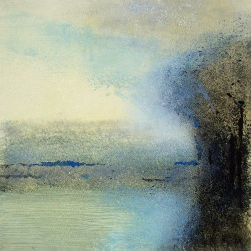 Lisa Breslow, Lake Reflections 9 2013, Monotype, paper size 22 x 22 inches