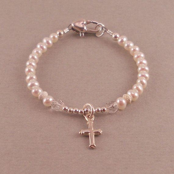 Baby Baptism Bracelet Christening By Sixsistersbeadworks 34 00