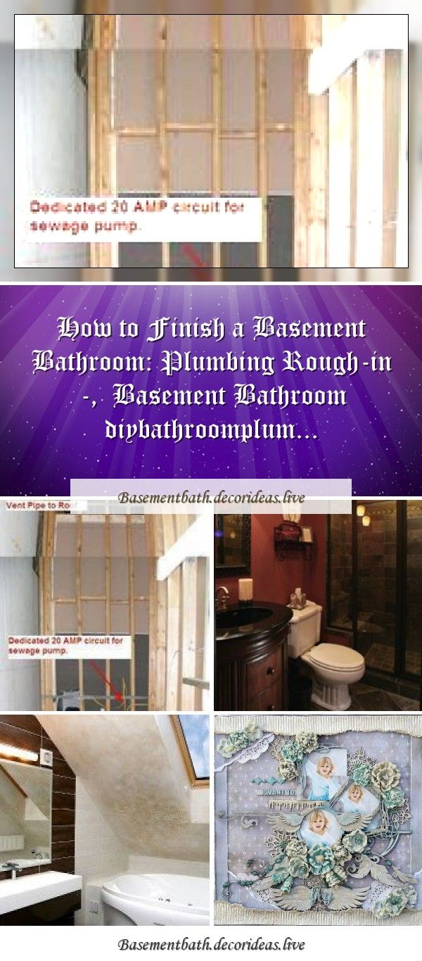How to Finish a Basement Bathroom: Plumbing Rough-in ...