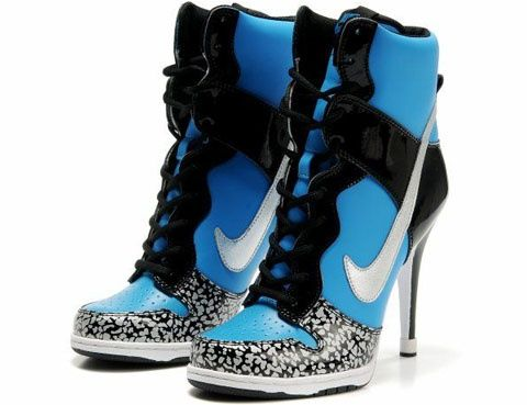 5434e399 High heel basketball shoes... I would never wear, but they look cool ...