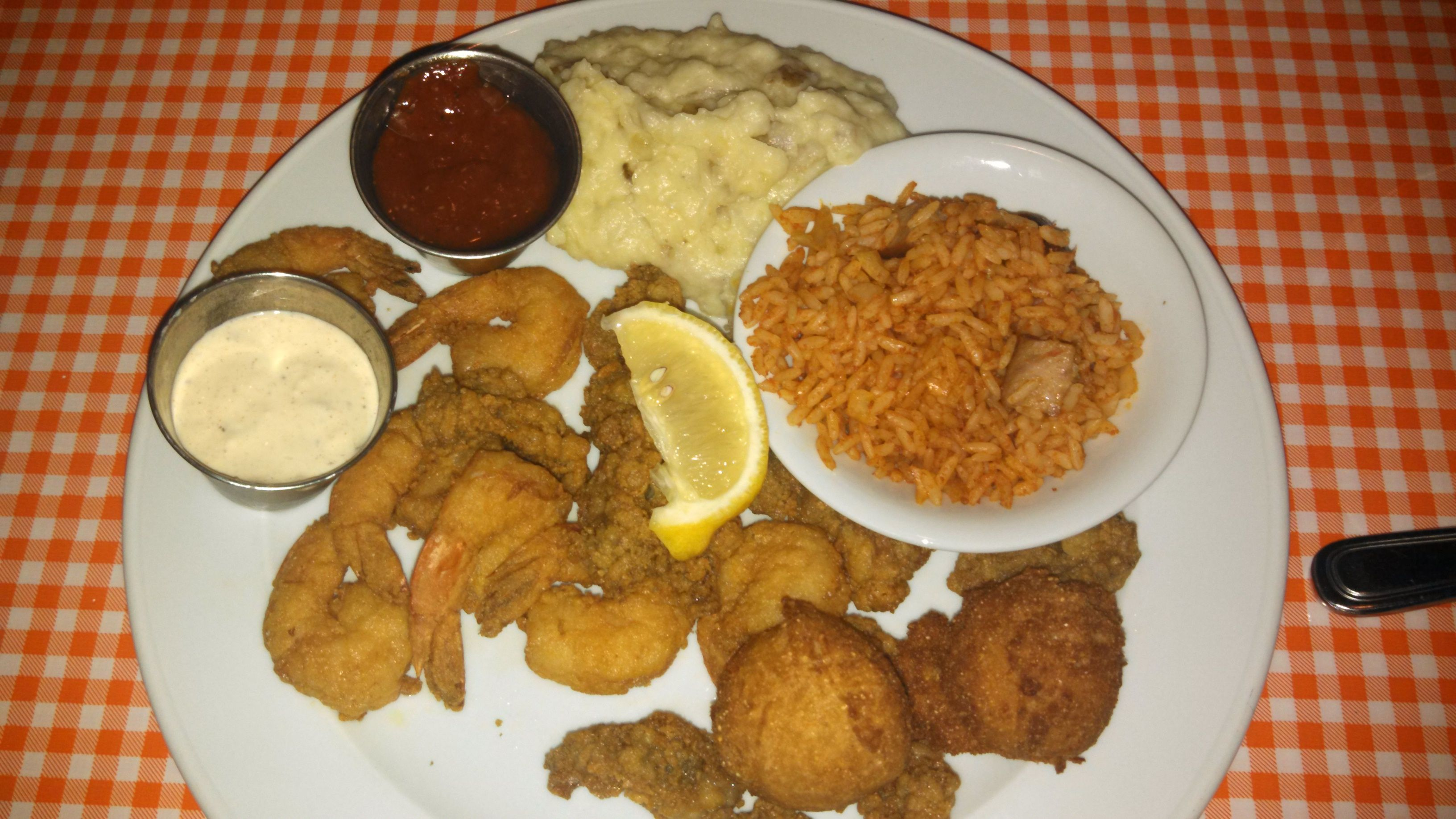 Fleet landing is a great place for seafood in charleston