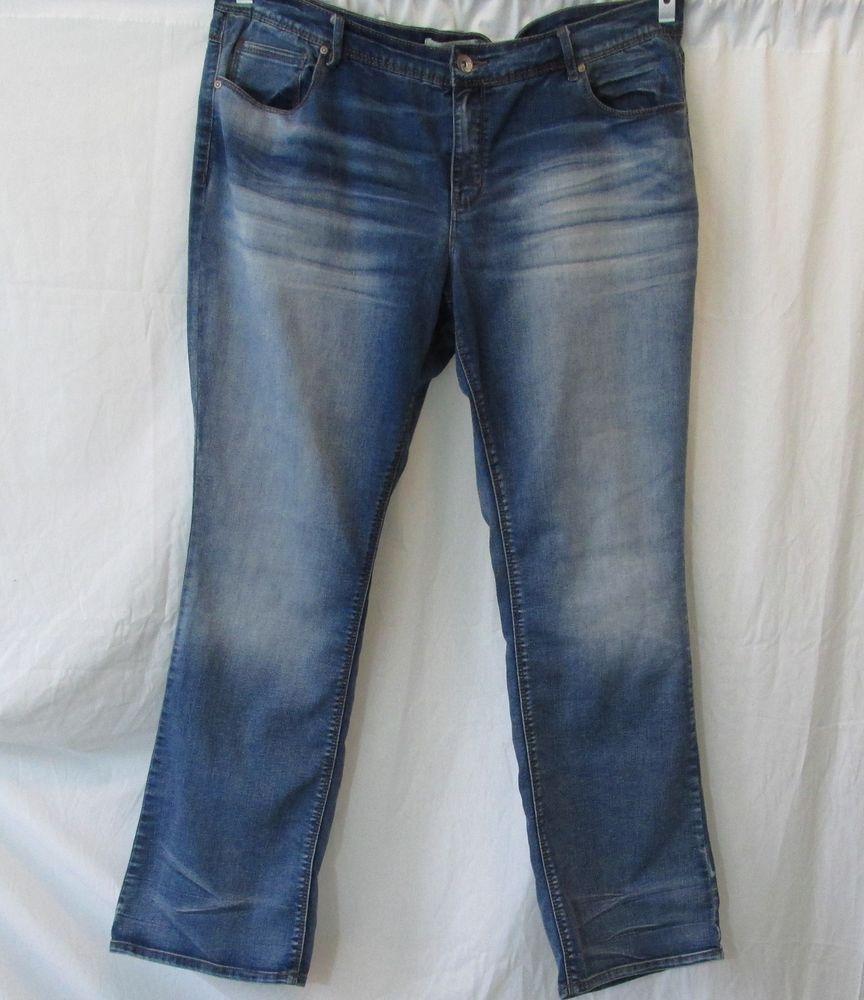 fd0133edf12 Est. 1946 Denim Blue Distressed Jeans 18W Plus Size  Est1962Denim   StraightLeg