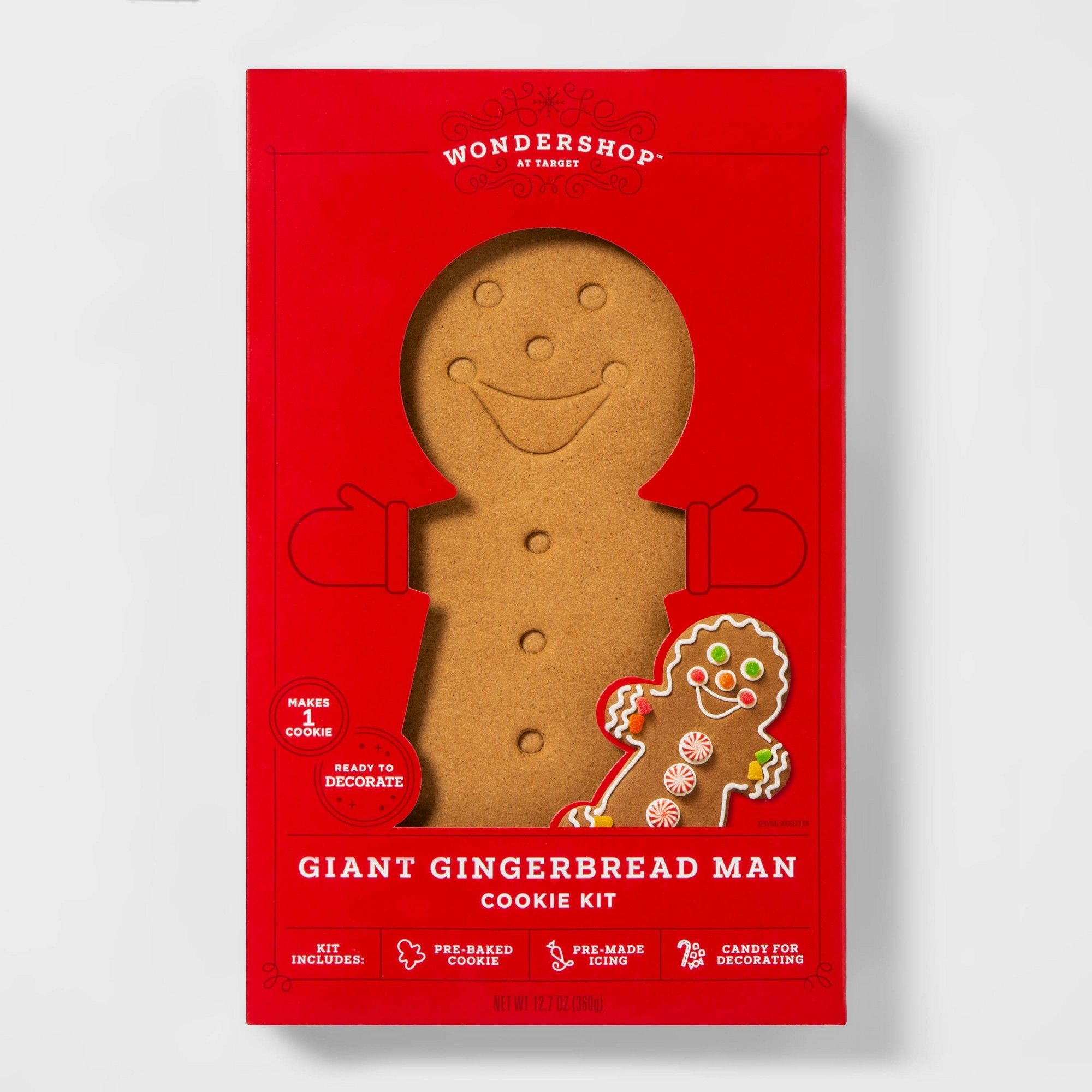 Holiday Giant Gingerbread Man Cookie Kit 12.7oz