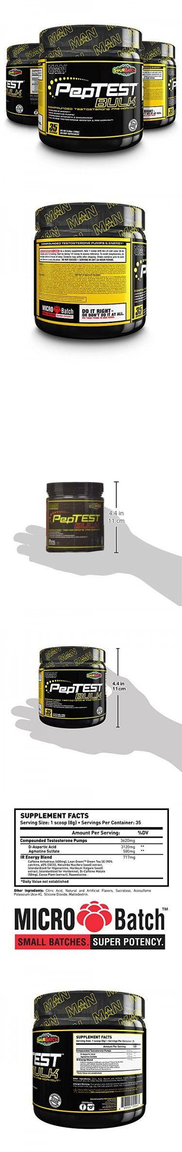 MAN Sports PepTest BULK 2-in-1 Pre-Workout + Testosterone