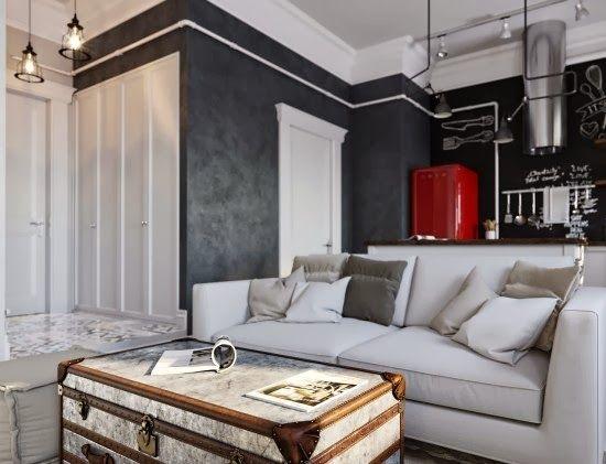 Contoh Trend Interior Pola Desain Grafis Hitam Putih Tips
