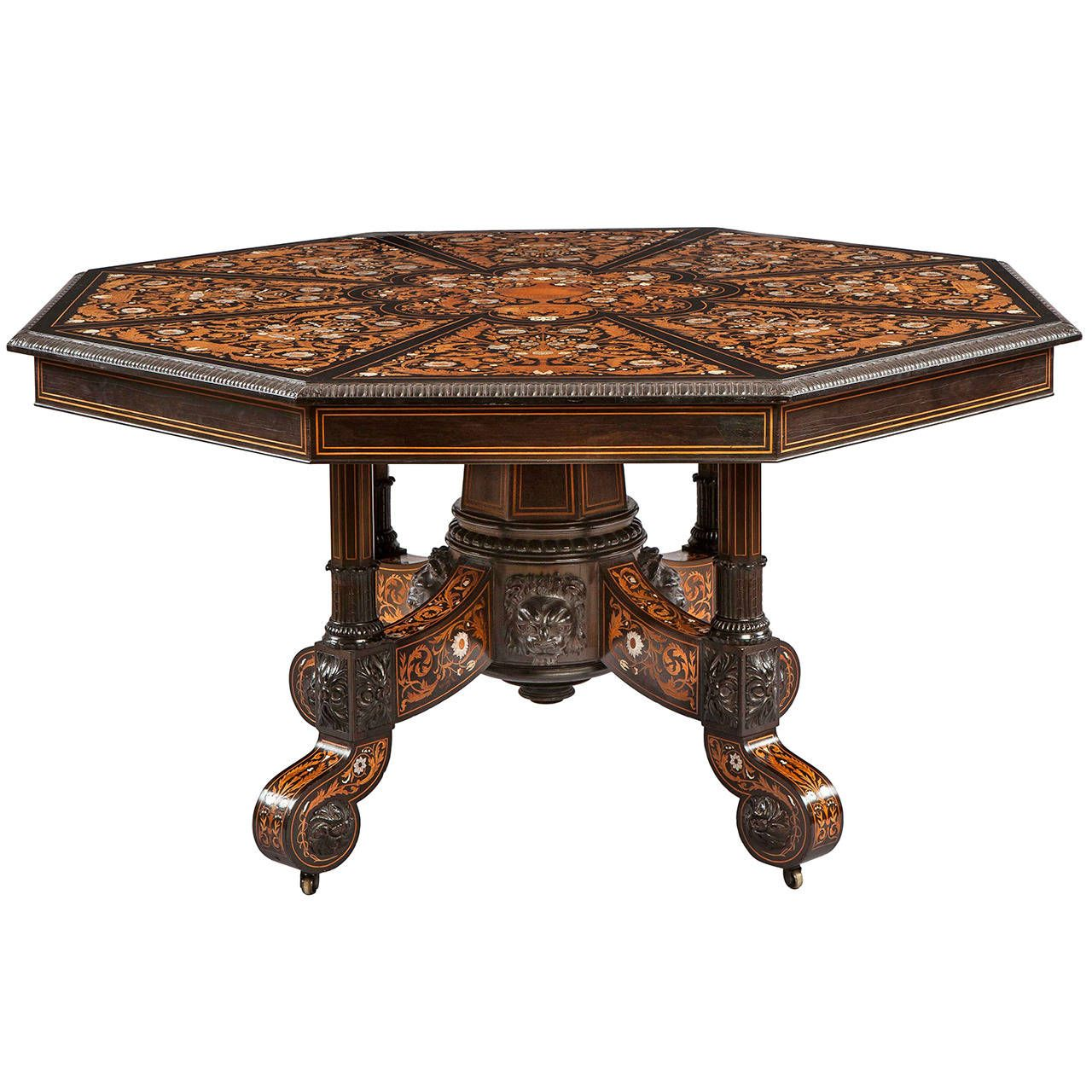 Antique Italian Marquetry Octagonal Centre Table | From A Unique Collection  Of Antique And Modern Center
