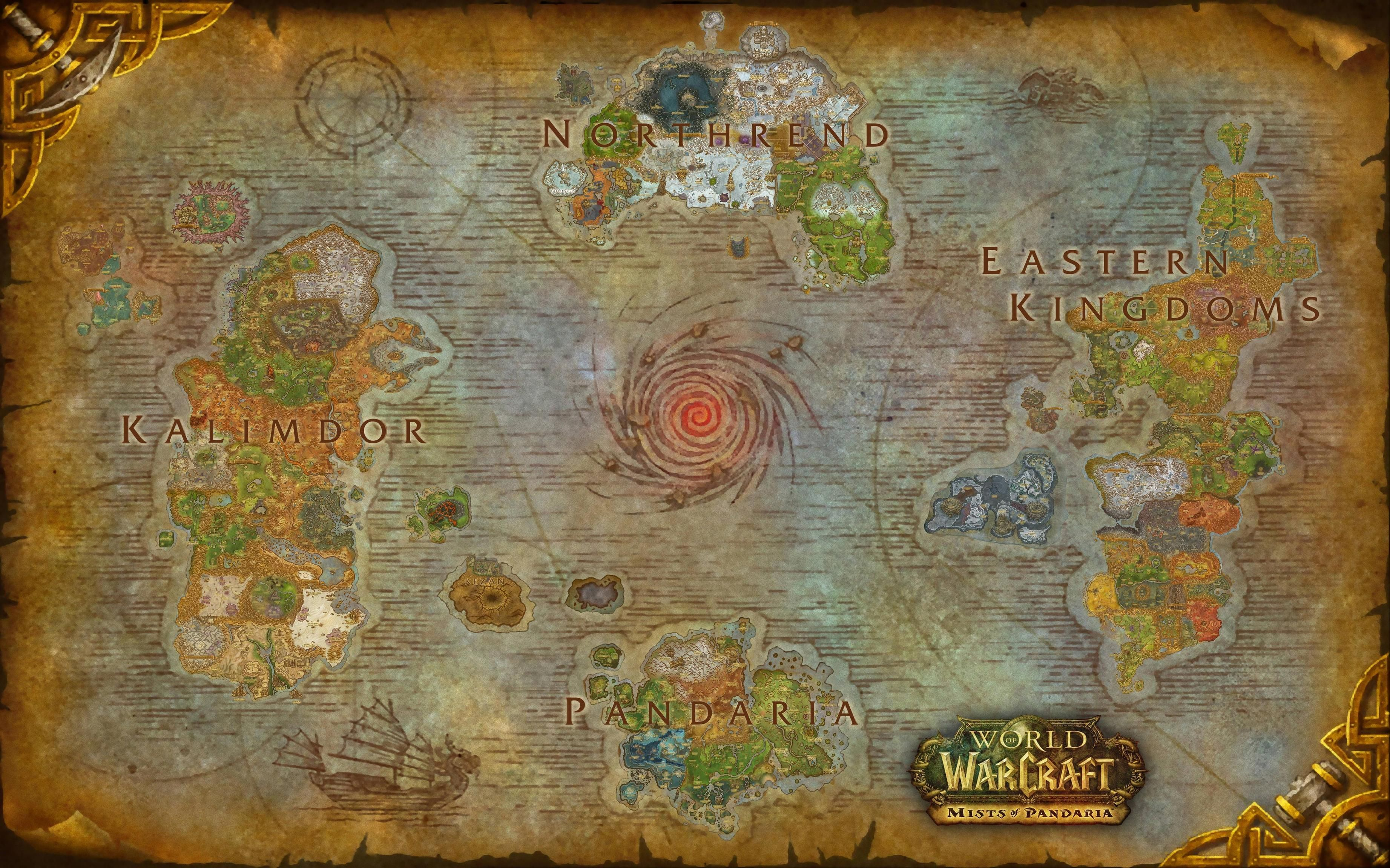 Azeroth Map posite 300 DPI Wow Throughout World Warcraft Art