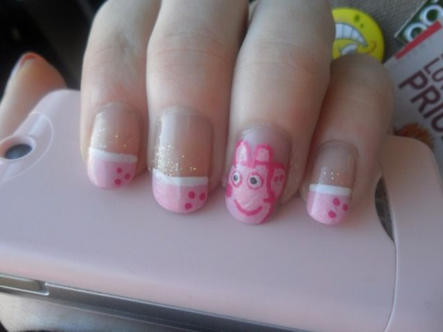 Peppa Pig Nail Art Nails George Party