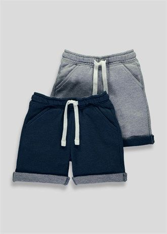 3efe162822 Boys 2 Pack Sweat Shorts (3mths-5yrs) | Rio's wardrobe | Shorts ...