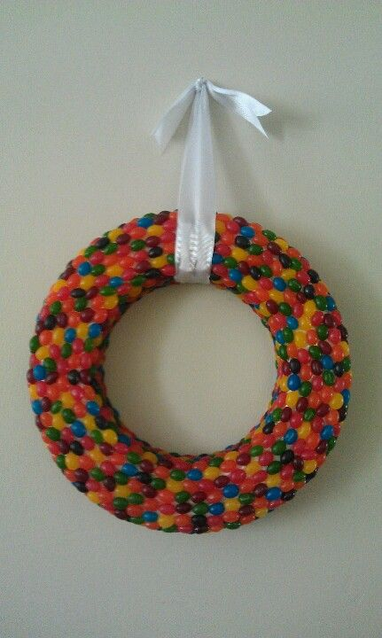 Happy spring or Easter. Jelly bean wreath :)