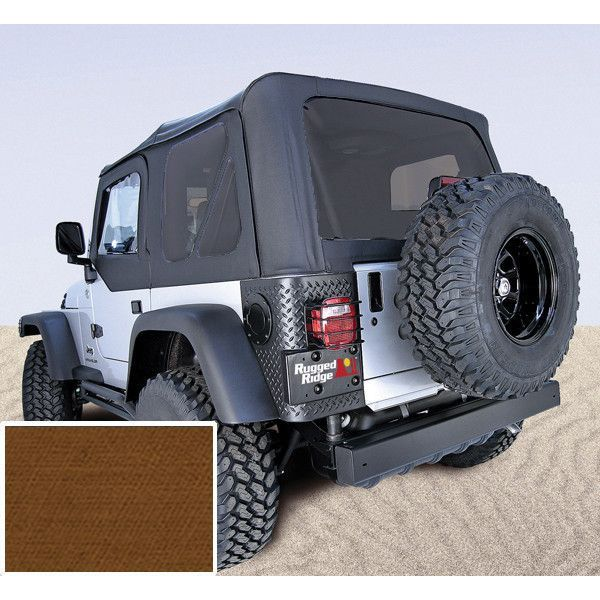 Soft Top Door Skins Dark Tan Tinted Windows 97 02 Jeep