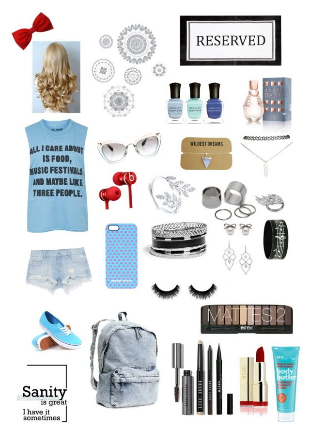 """All I Care About is Food, Music Festivals, and Maybe Like Three People"" by shreyamshah24 ❤ liked on Polyvore featuring beauty, Topshop, Zara, Vans, H&M, Miu Miu, Beats by Dr. Dre, Markus Lupfer, AS29 and Pieces"