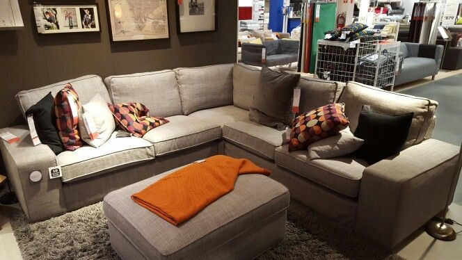 Kivik Sectional From Ikea Ikea Sectional Family Room Cabin Living