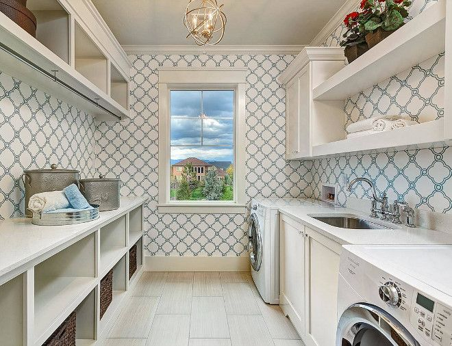 Outstanding Laundry Room Laundry Room Features Neutral Floor Tile Off Interior Design Ideas Gentotryabchikinfo