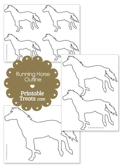 Printable Running Horse Outline from PrintableTreats.com | Print It ...