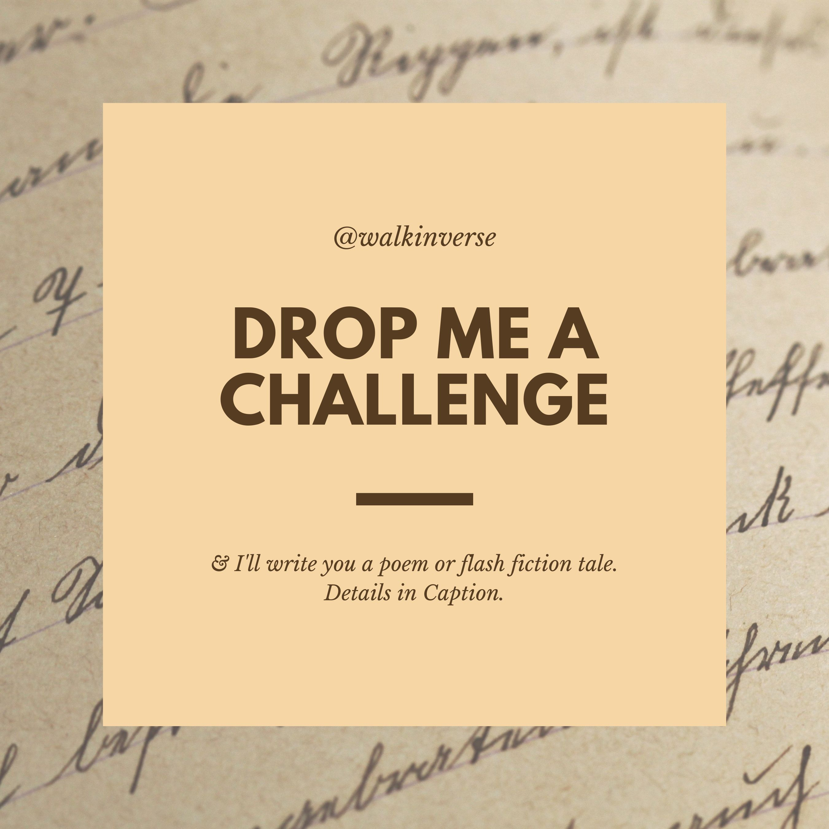 Give Me A Challenge Walk In Verse Wiv In 2020