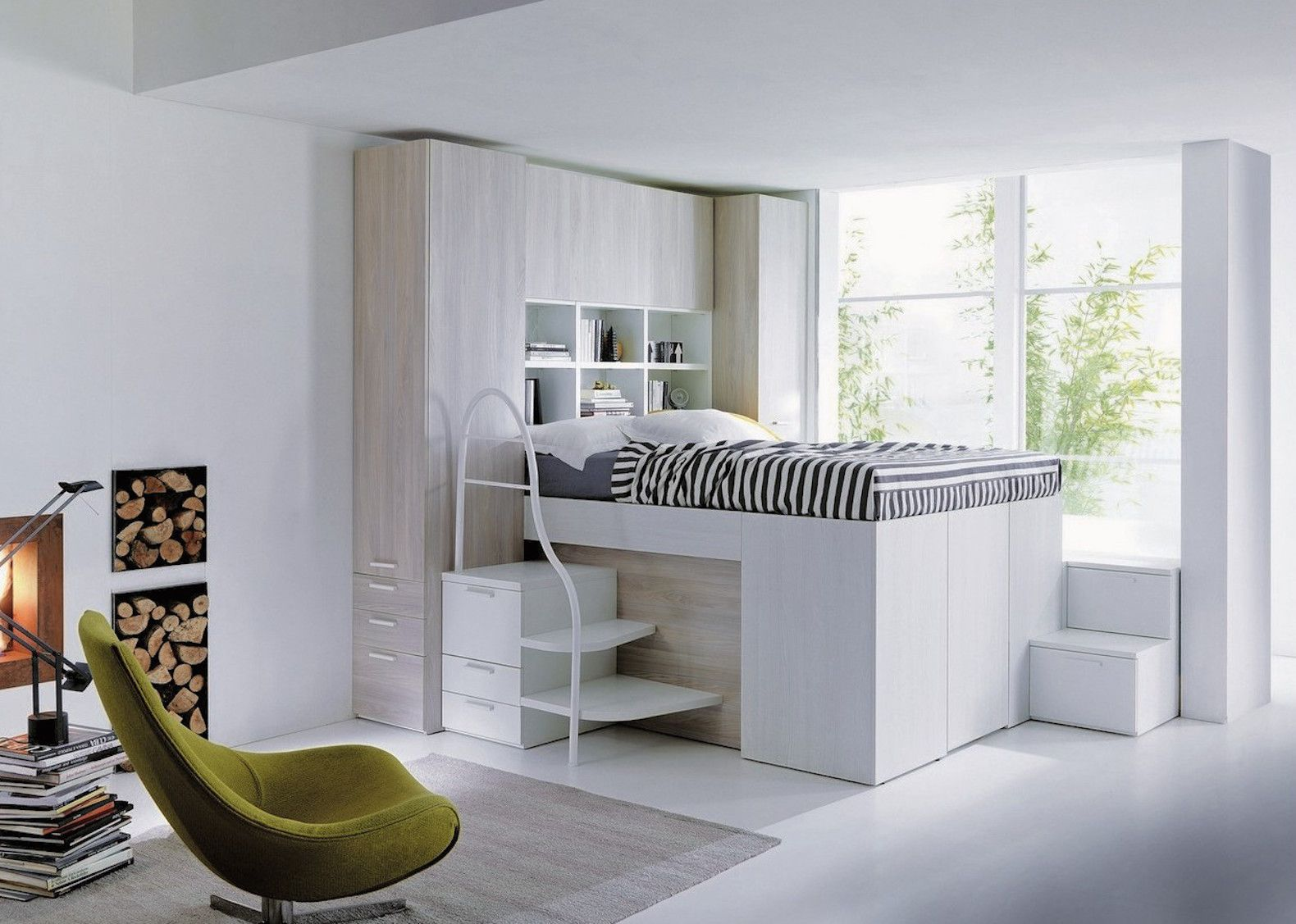 Smart Space Saving Bed Hides A Walk In Closet Underneath Space Saving Beds Small Room Bedroom Loft Spaces