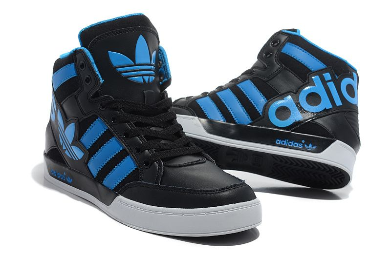 adidas original shoes mens high tops white blue