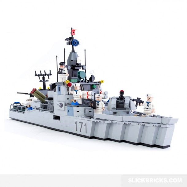 Destroyer Class Warship Lego Military Lego Ship Best Lego Sets