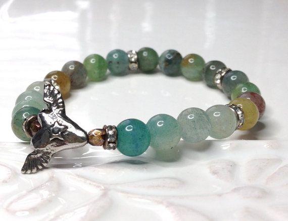 Stacking Gemstone Bracelet Winged Heart Soar Star by LoveandLulu