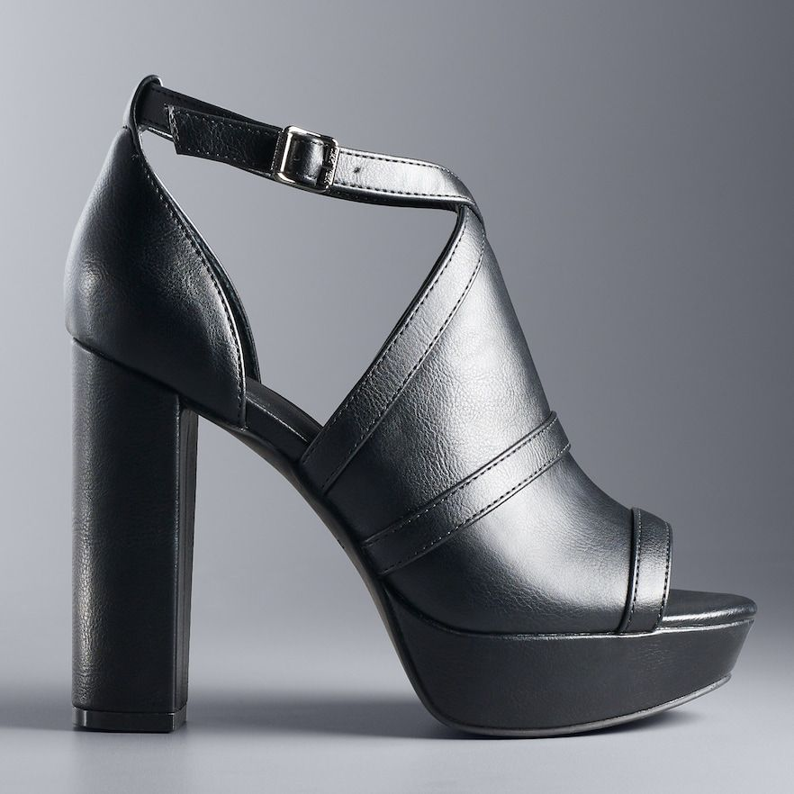 Platform high heels, High heel sandals