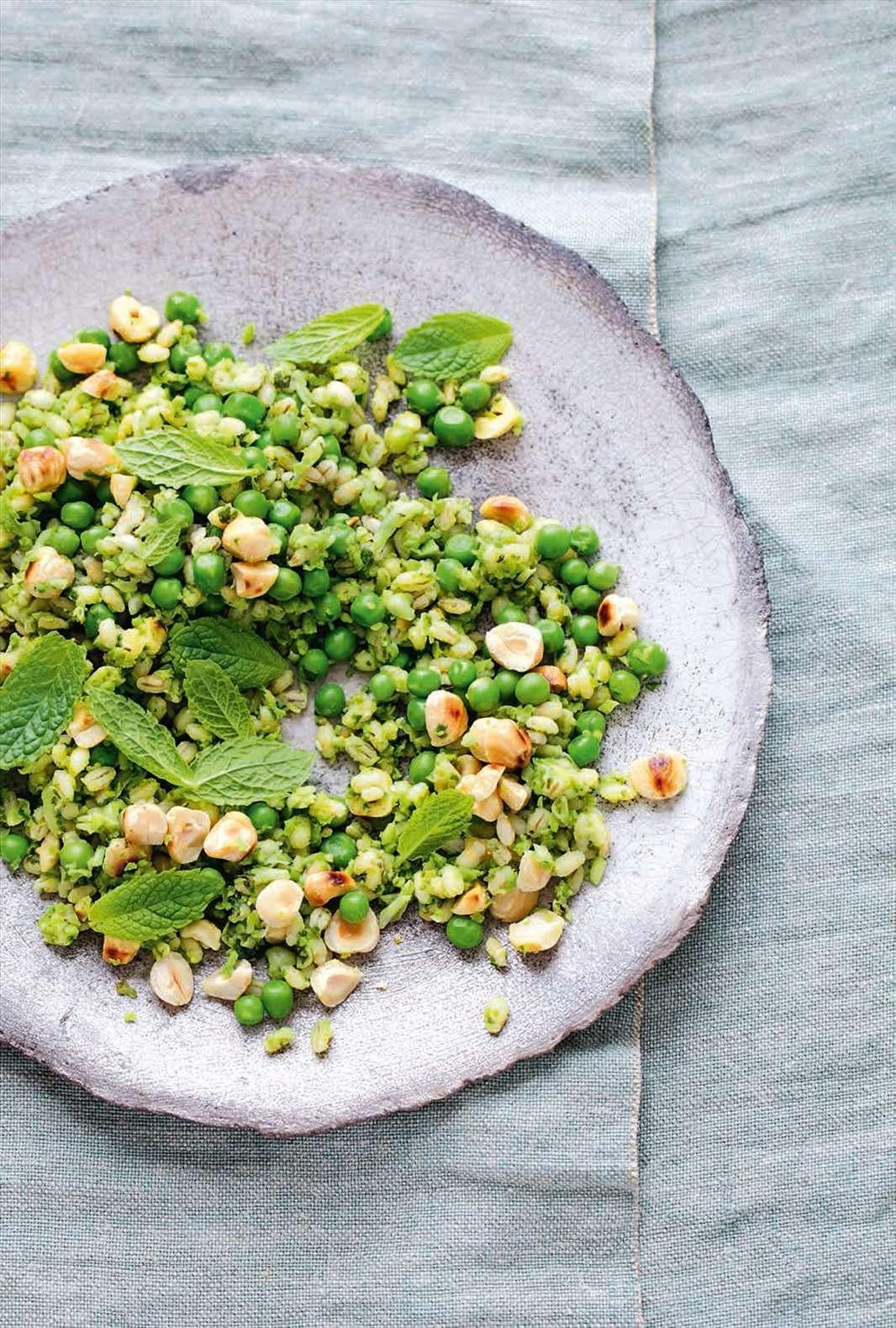 Barley Salad with Chickpeas, Fava Beans Peas advise