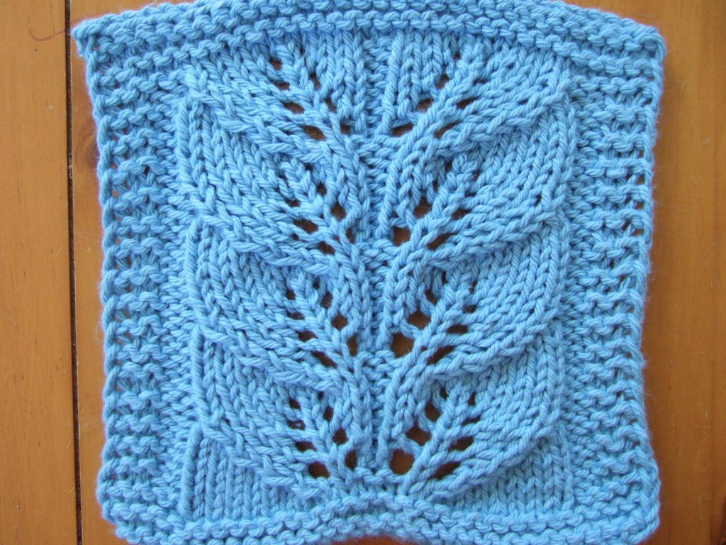 Free Knitting Pattern - Dishcloths & Washcloths : Twin Leaf Lace ...
