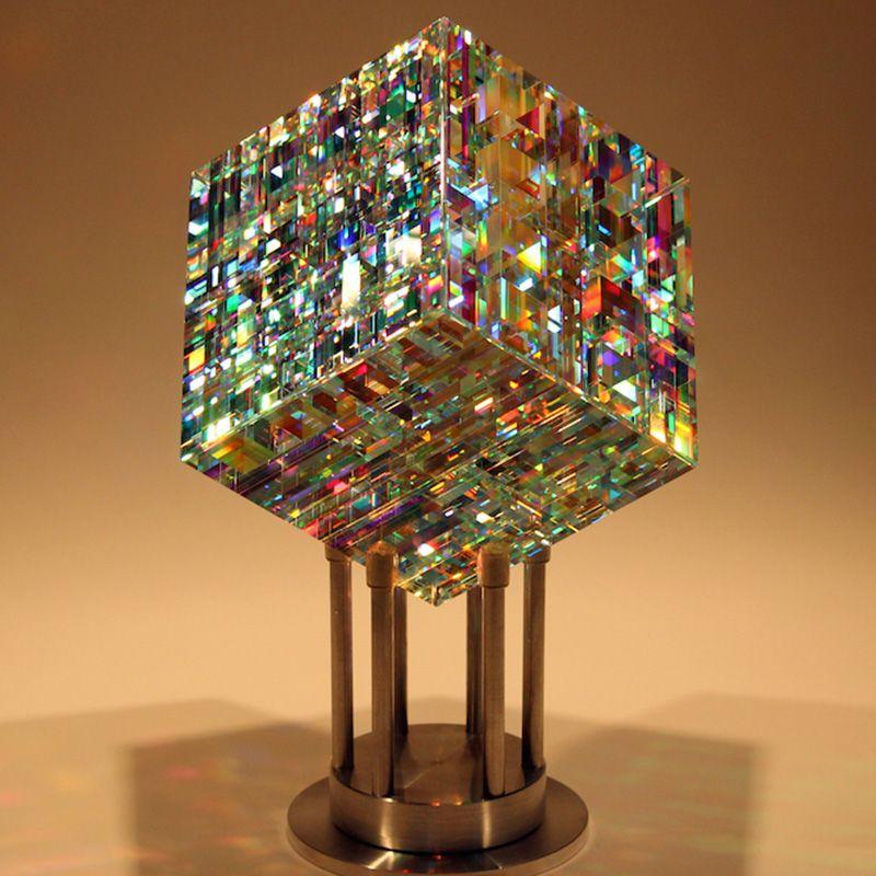 Chroma Cube Contemporary Glass Art Jack Storms Glass Art Glass