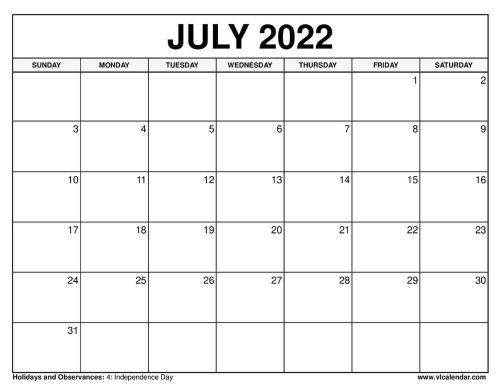 Printable June 2022 Calendar Free.July 2022 Calendar July Calendar Calendar Calendar Template