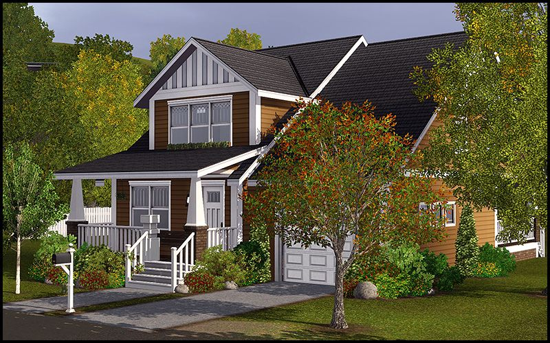 the harper - 3 bed 3 bath - unfurnished home | sims 3 lots