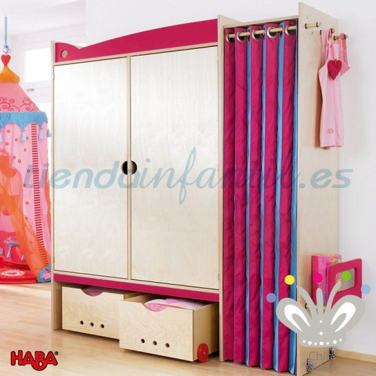 Resultado de imagen de armarios con cortinas decoraci n 01 monisima habitacion chicas - Armarios con cortinas ...