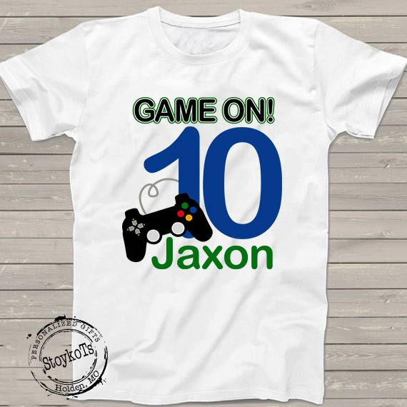 Gamer Birthday Party Shirt Game On 10th Video