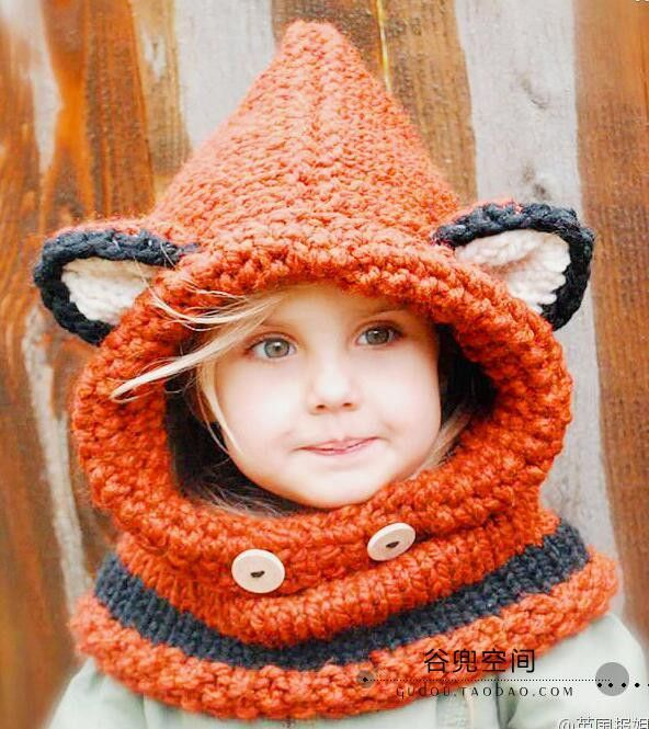 Chunky Red Fox Hooded Childs Scarf Knitting Pinterest Red Fox