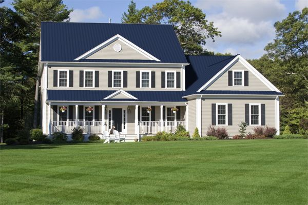 Best Dark Blue Tin Roof Idea Roof Colors Metal Roof Houses 400 x 300