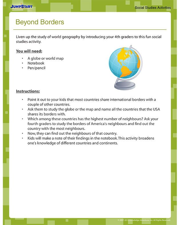 Beyond Borders - Free Printable Geography Worksheet What countries ...