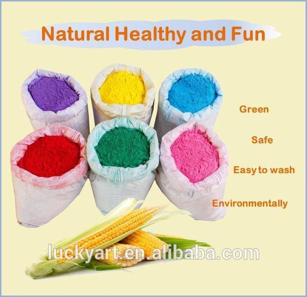 Wholesale corn starch Holi powder Natural food coloring no chemicals ...