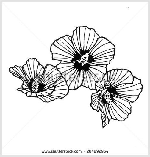 abstract of design element flowers to