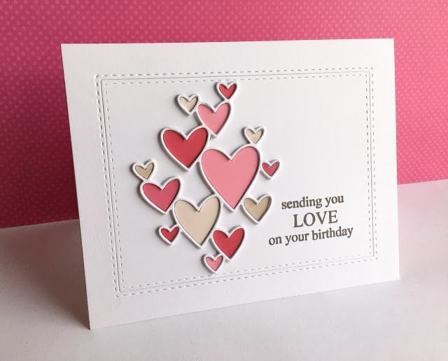 Valentine's Day heart card