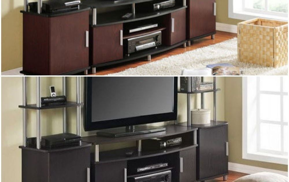Entertainment Center Tv Stand 2 Side Towers 50 70 Media Console