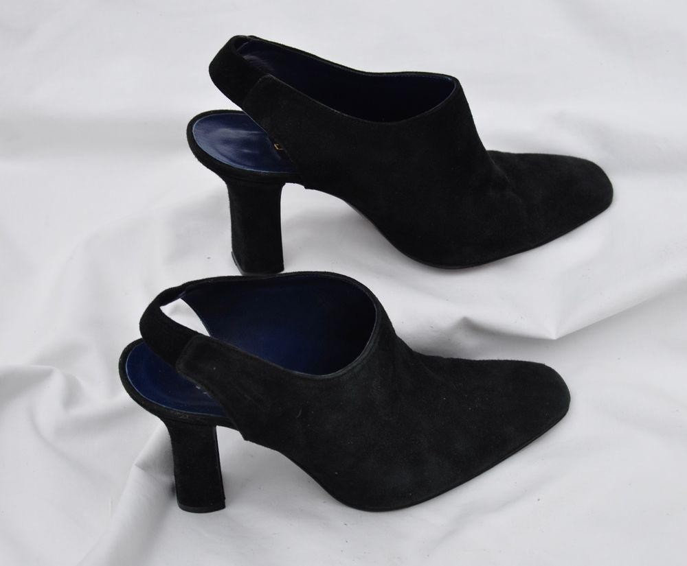 55116d1fe9 Donna Karan New York Black Suede Sling Back High Heeled Ankle Bootie - 8 B   fashion  clothing  shoes  accessories  womensshoes  heels (ebay link)